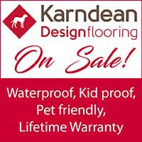 Karndean waterproof, petproof flooring on sale this month at Independent Flooring in Eau Claire.