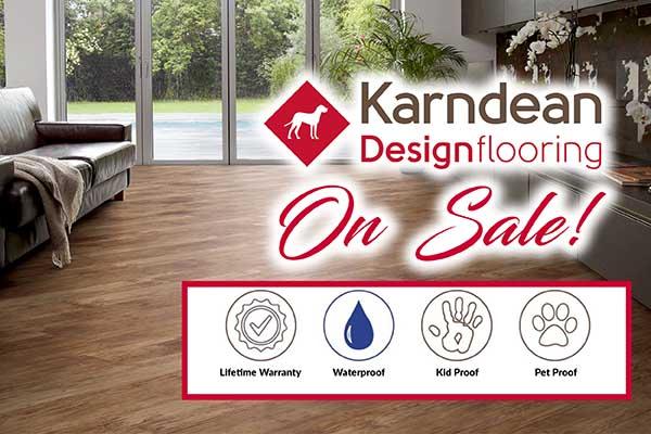 Karndean waterproof, petproof flooring on sale this month at Independent Flooring in Eau Claire.